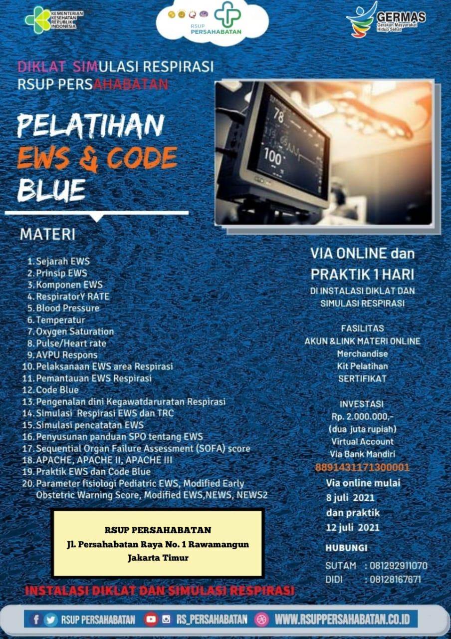 Pelatihan EWS & Code Blue Juli 2021