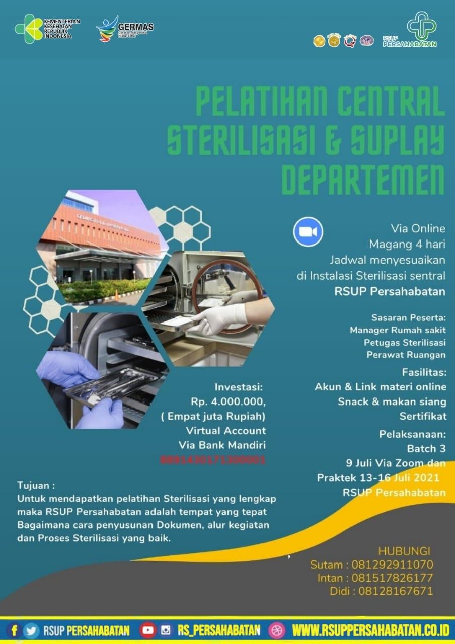 Pelatihan Central Sterilisasi & Suplay Departemen Juli 2021