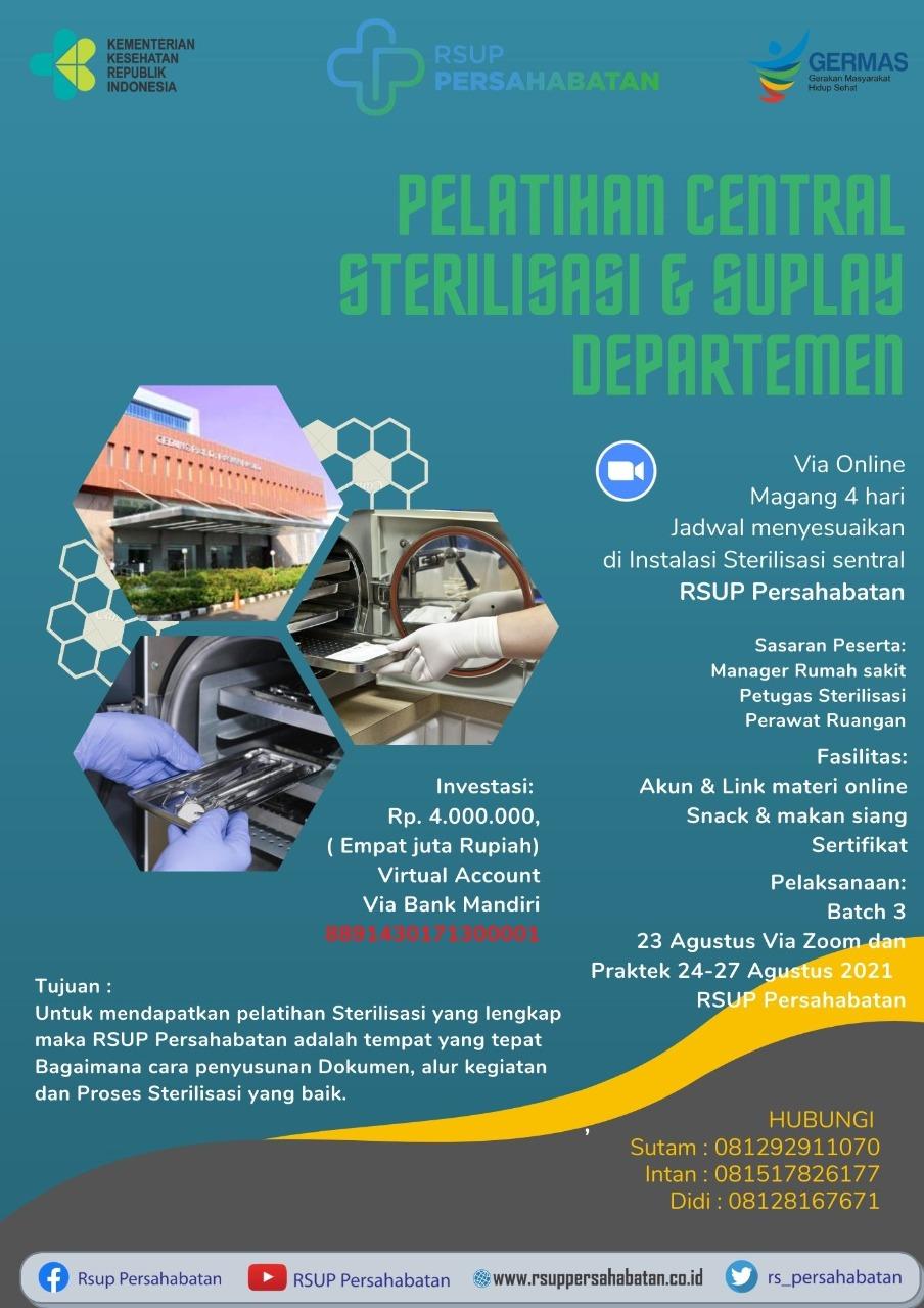 Pelatihan Central Sterilisasi & Suplay Departemen Agustus 2021