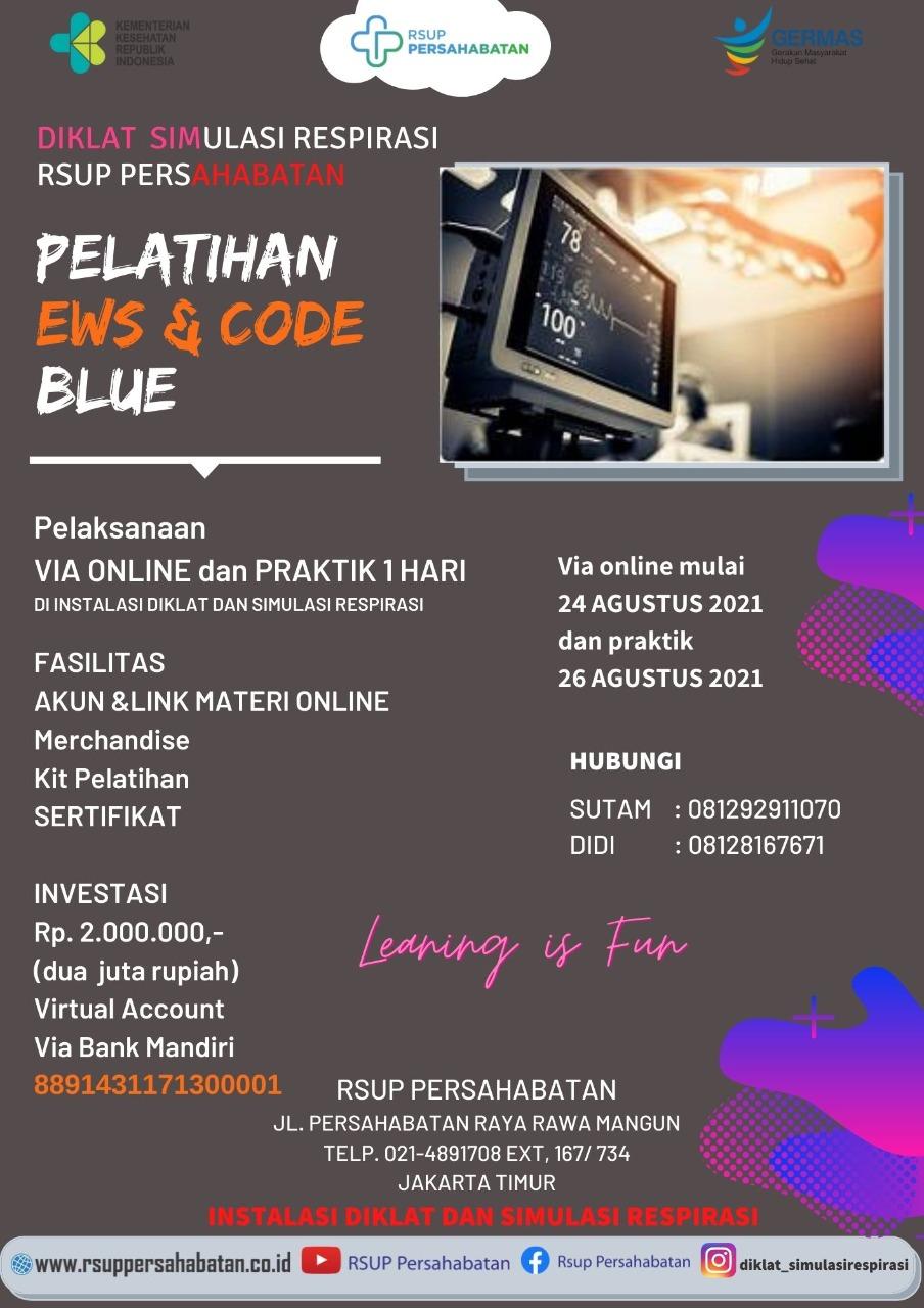 Pelatihan EWS & Code Blue Agustus 2021