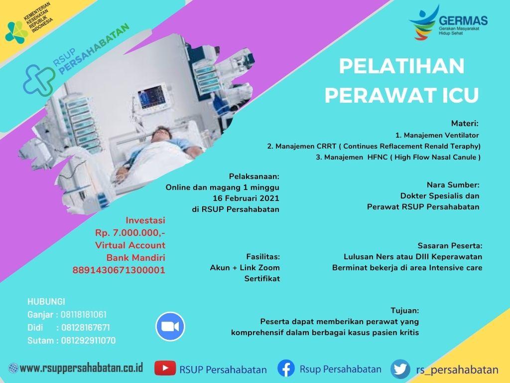 Pelatihan Perawat ICU Februari 2021