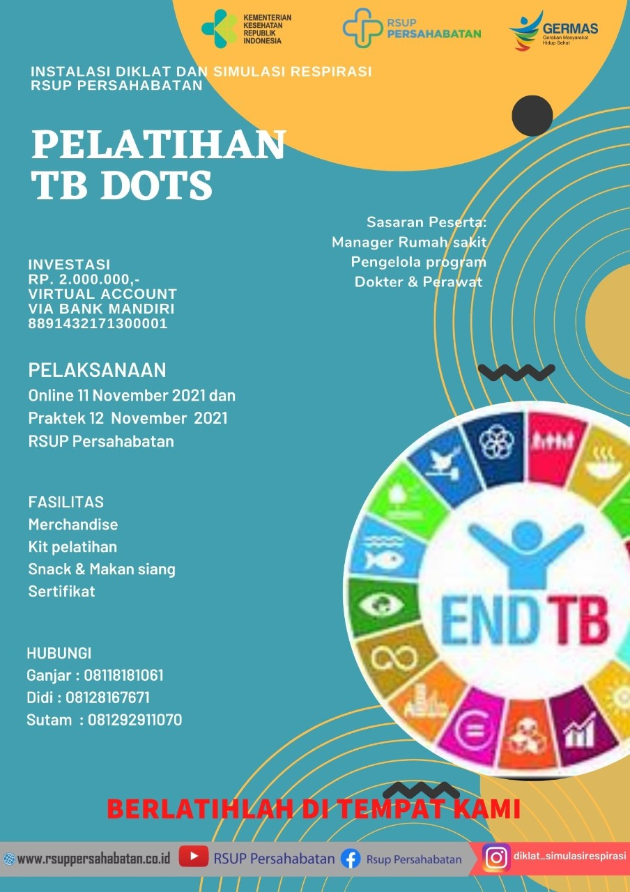 Pelatihan TB Dots tanggal 11-12 November 2021