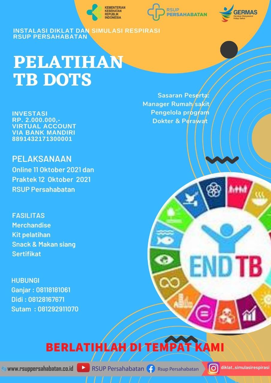 Pelatihan TB Dots tanggal 11-12 Oktober 2021