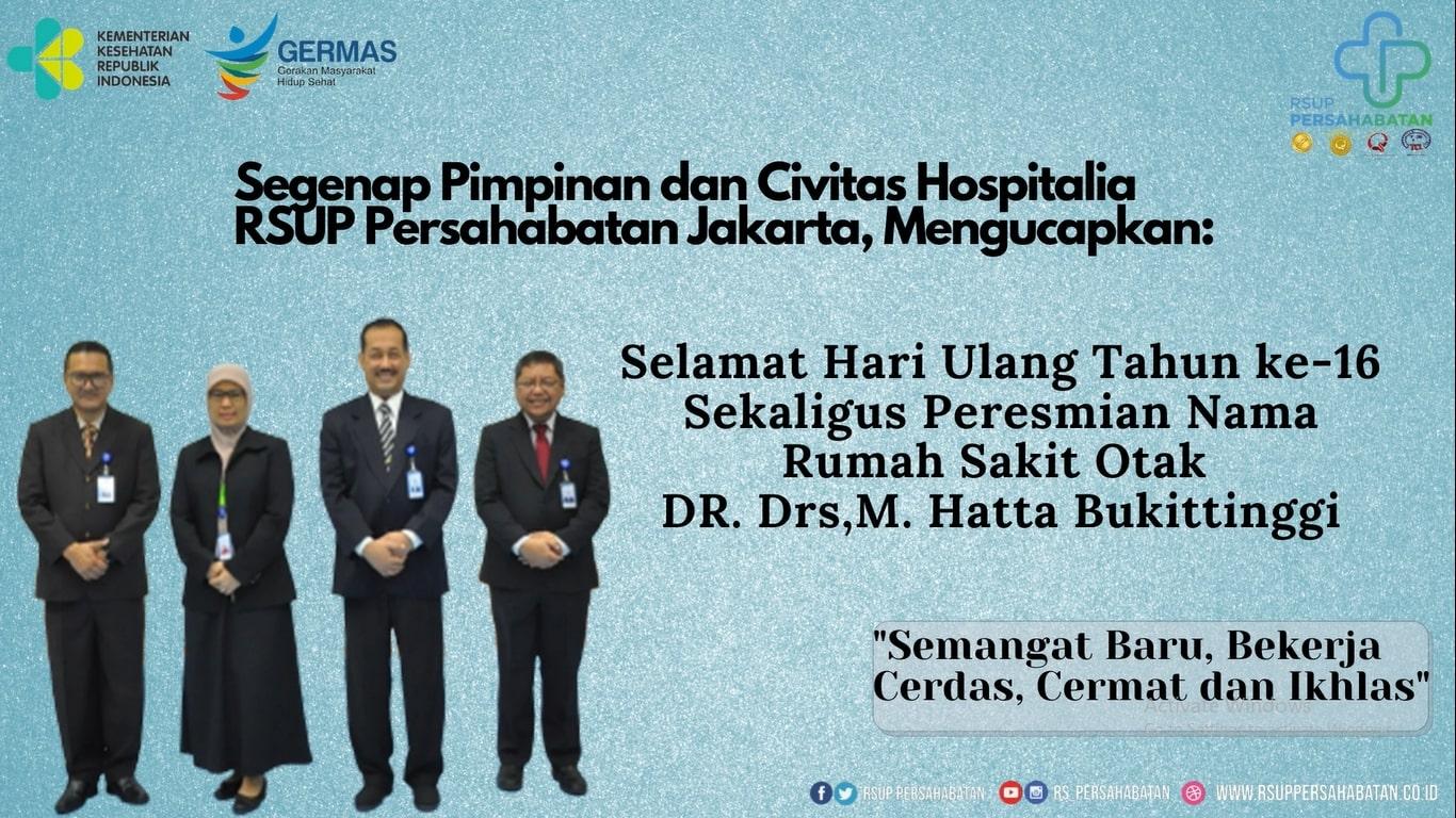 Hari Ulang Tahun ke-16 Rumah Sakit Otak DR. Drs. M. Hatta Bukittinggi
