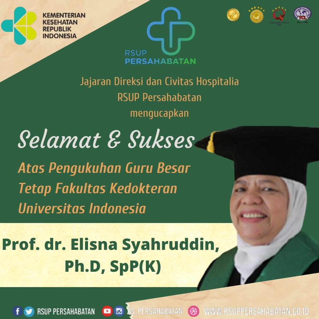 Selamat & Sukses Atas Pengukuhan Guru Besar Tetap Fakultas Kedokteran Universitas Indonesia