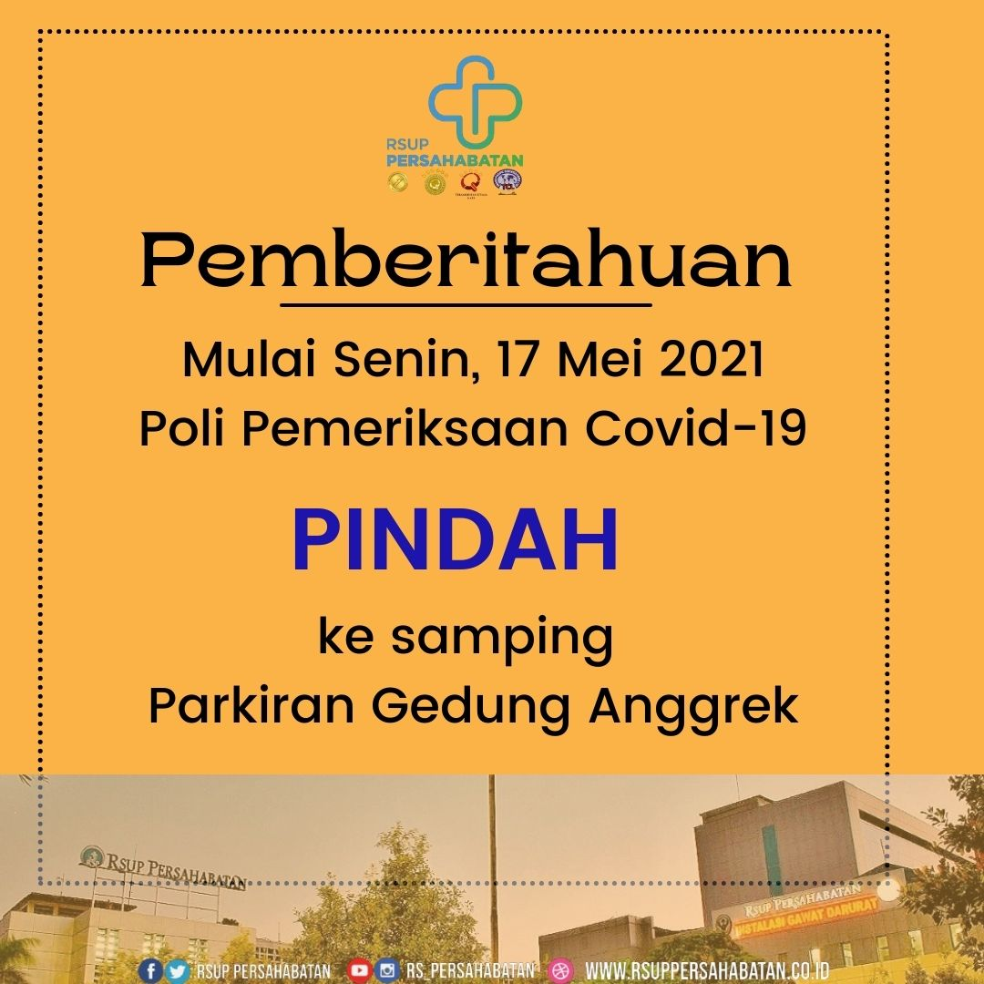 Poli Pemeriksaan Covid-19 Pindah