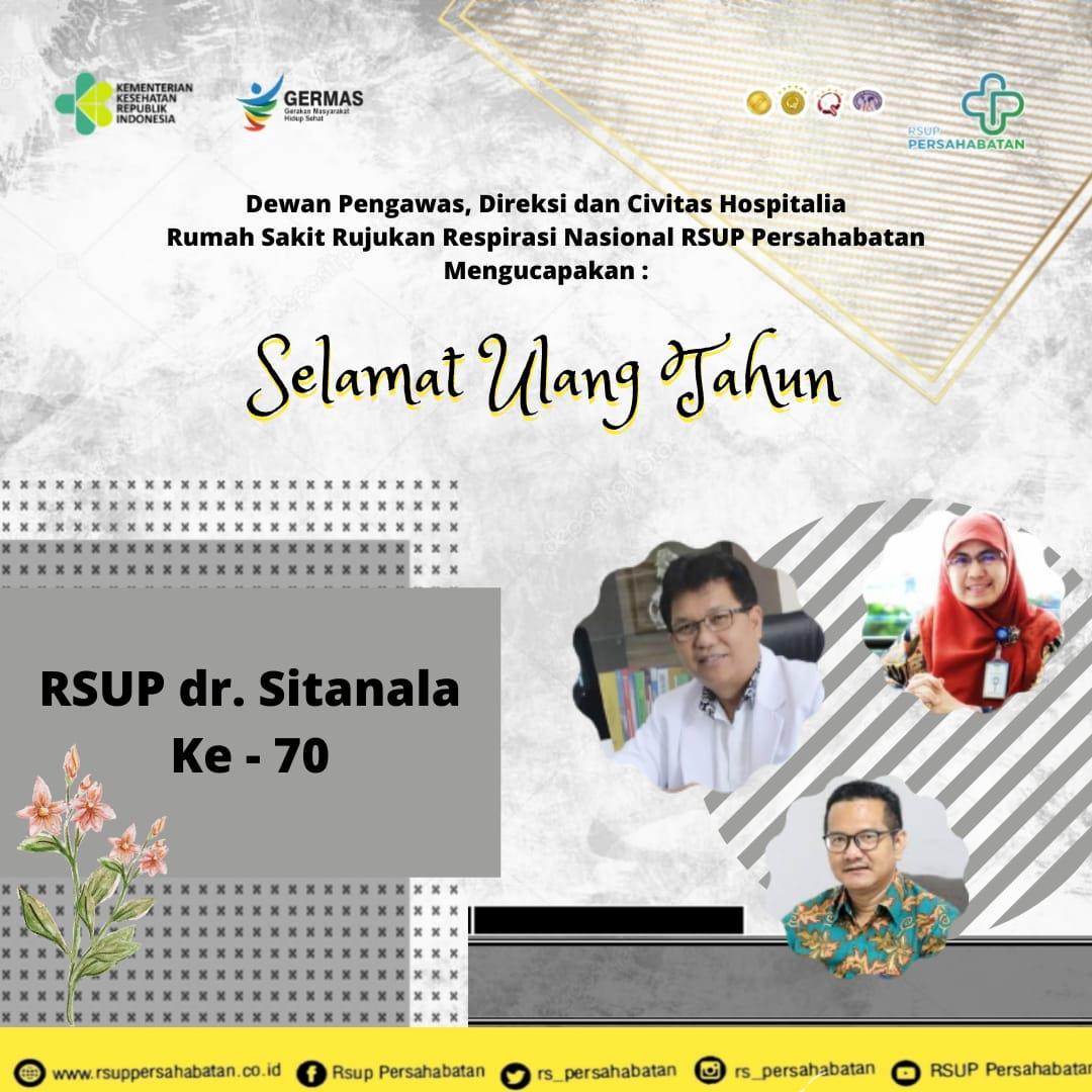 Selamat Ulang Tahun RSUP dr. Sitanala ke-70