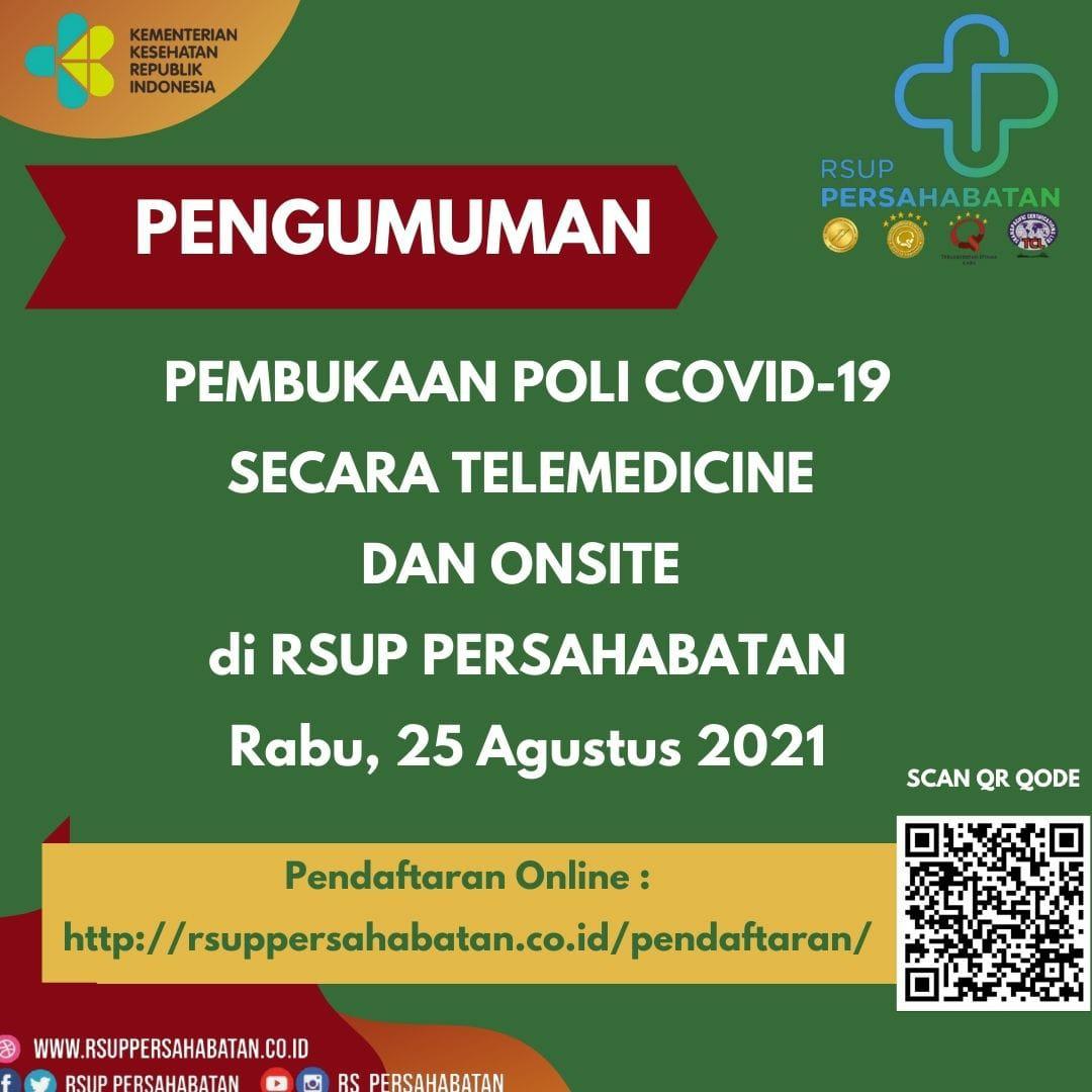 Pembukaan Poli Covid-19 Secara Telemedicine dan Onsite di RSUP Persahabatan