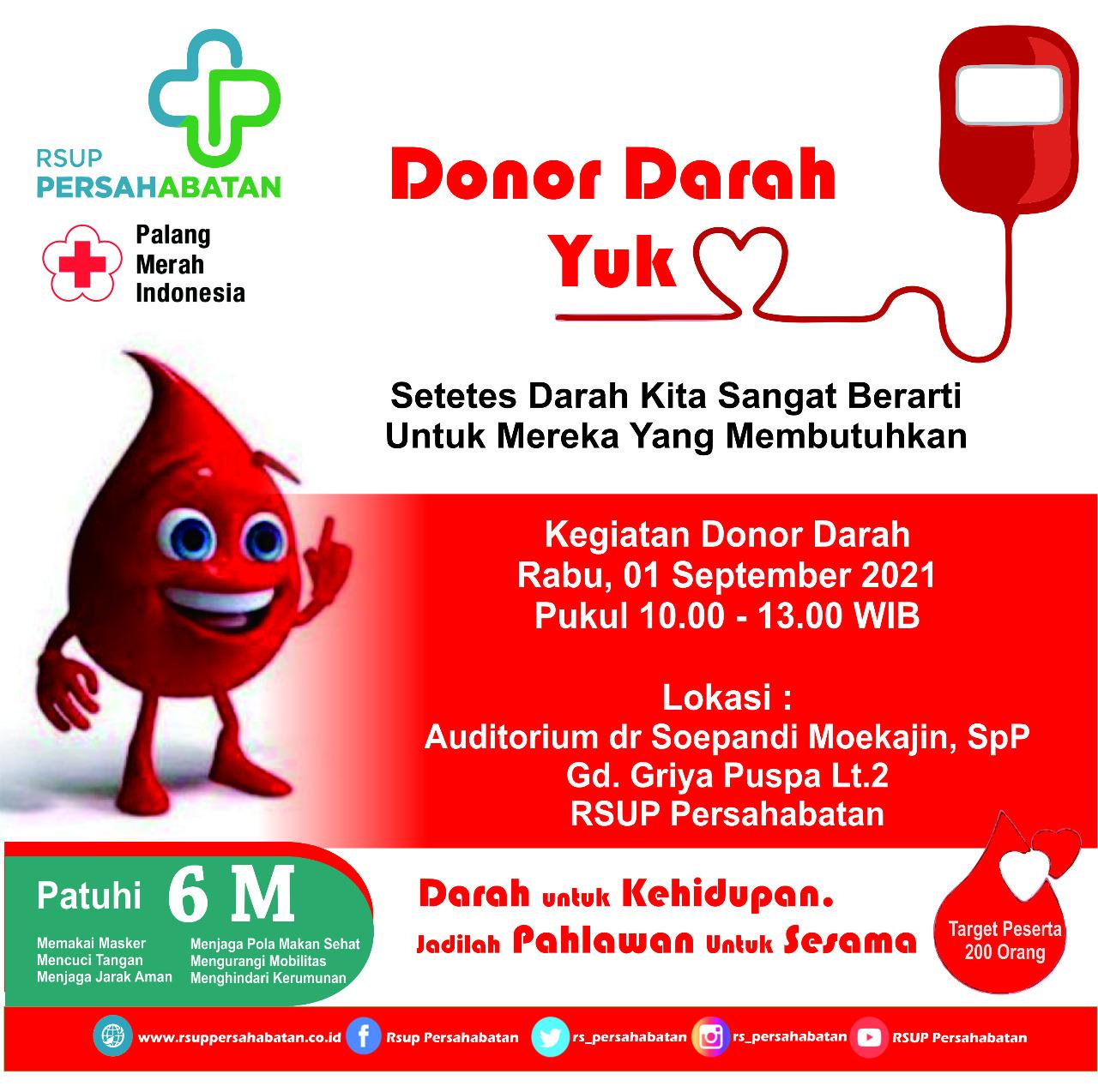 Donor Darah 1 September 2021