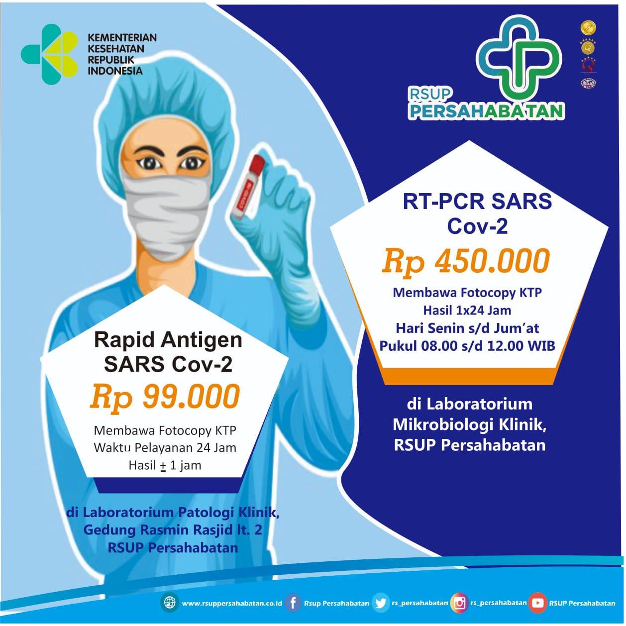 Tarif Swab Antigen dan RT-PCR Covid-19