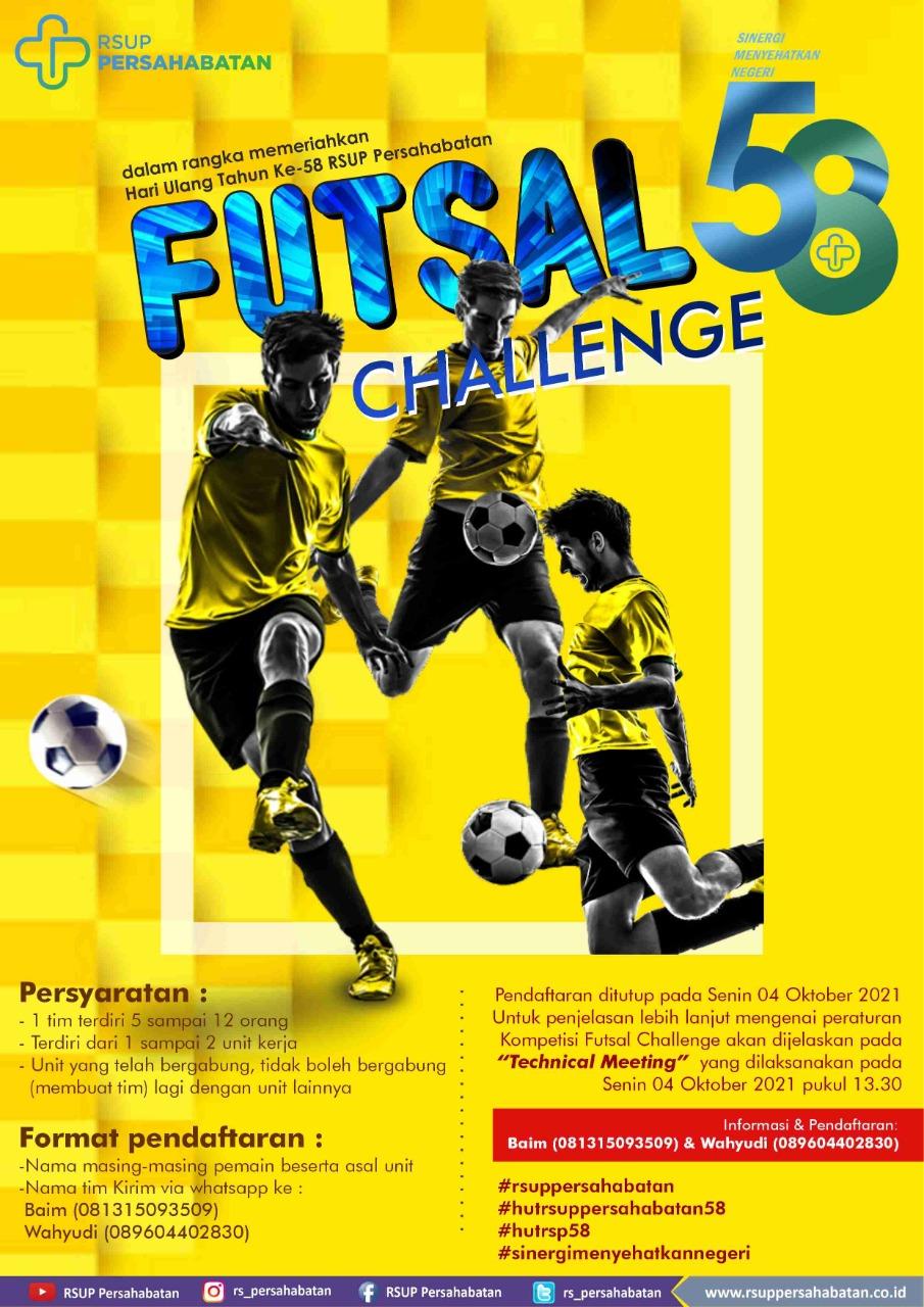 Lomba Futsal Dalam Rangka HUT ke-58 RSUP Persahabatan