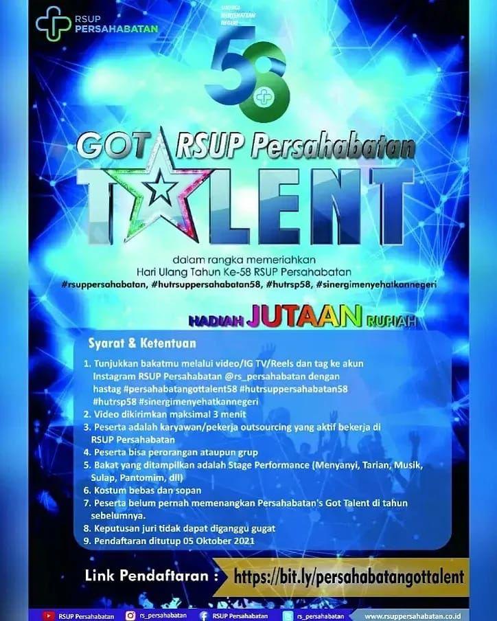 Persahabatan Got Talent Dalam Rangka HUT ke-58 RSUP Persahabatan