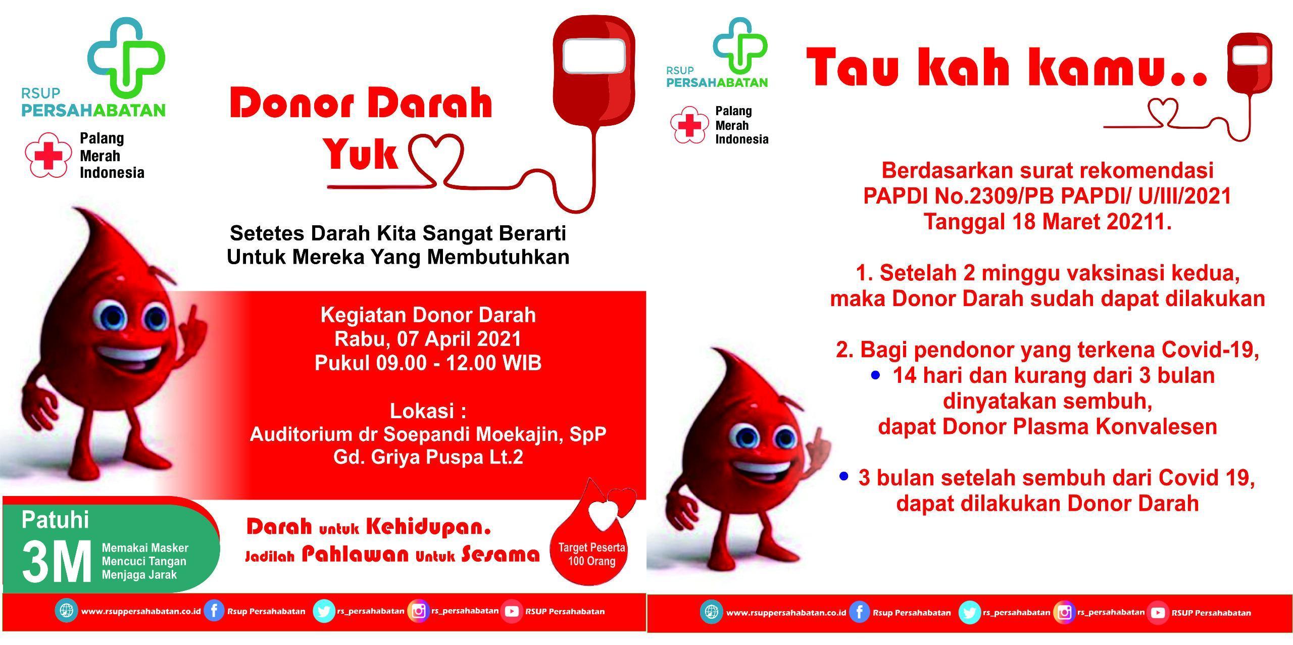 Donor Darah Yuk....