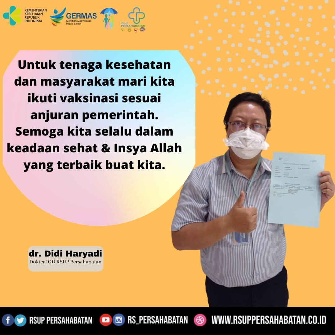 mari kita ikuti vaksinasi sesuai anjuran pemerintah