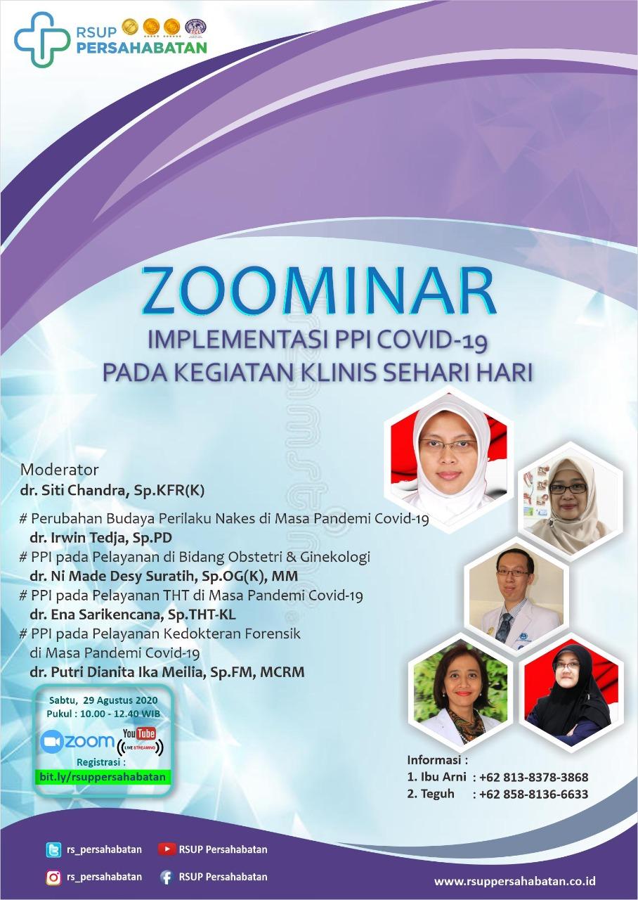 Webinar Implementasi PPI Covid19 Pada Kegiatan Klinis Sehari-hari